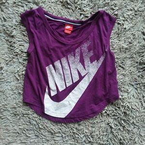 Purple Nike crop top